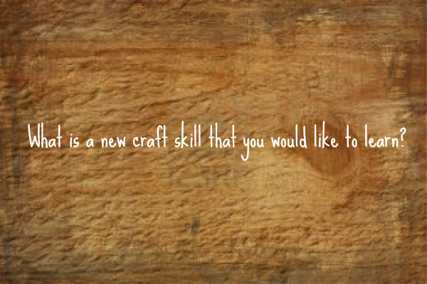 What new craft skill would you like to learn?