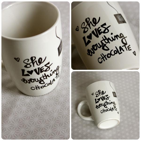She Loves Everything Chocolate Mug