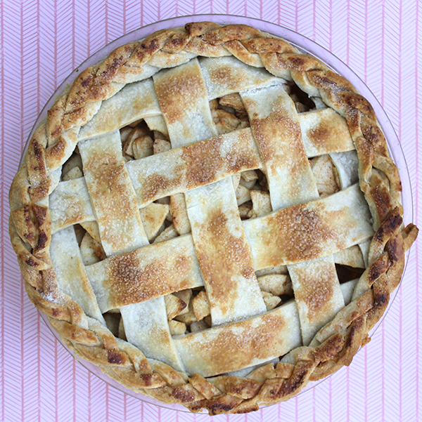 Apples Baked in a Pie: Easy Apple Pie by The Little Red Button