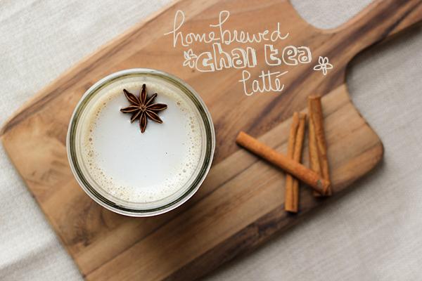 Home brewed Chai Tea Latte