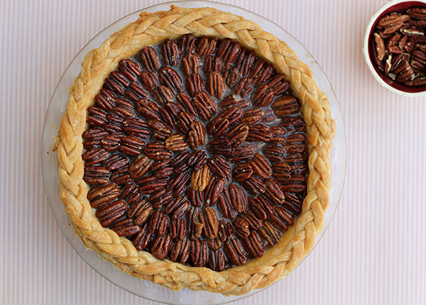 Salted Caramel Chocolate Pecan Pie by The Little Red Button